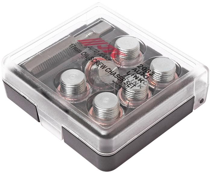 JTC Набор для ремонта маслосливных отверстий, 17 мм. JTC-2032CA-3505Применяется для ремонта поврежденной или сорванной резьбы маслосливных отверстий двигателя размером 16 мм. Для восстановления резьбы используется метчик 17 мм. Затем ввинчивается заглушка 17 мм. с шайбой В комплекте: Метчик: М17х1.5 (1 шт.) Заглушки: М17 (6 шт.) Шайба медная: М17 (6 шт.) Габаритные размеры: 105/95/30 мм. (Д/Ш/В) Вес: 307 гр.