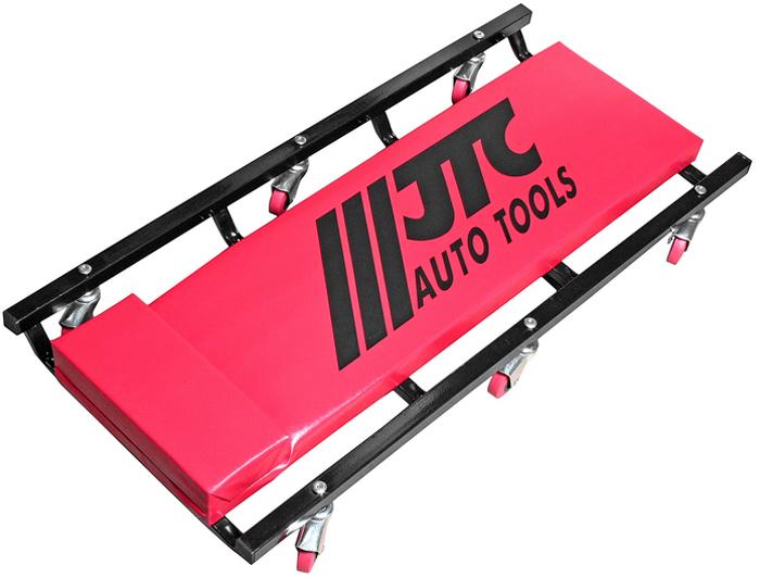 JTC Лежак ремонтный усиленной конструкции, на колесах. JTC-3105CA-3505Устойчивая конструкция с 6-ю колесами. Удобен для проведения работ под автомобилем. Лежак оснащен мягкой сидушкой и подголовником, что создает удобство во время выполнения работ. Размеры: 930x440x105 мм. Габаритные размеры: 990/460/105 мм. (Д/Ш/В) Вес: 9000 гр.