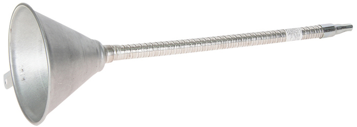 Воронка металлическая JTC с гибким наконечником. JTC-3108DW90Воронка JTC, выполненная из оцинкованного железа, используется при заправке емкостей. Гибкий наконечник обеспечивает удобство при работе в труднодоступных местах.Длина трубки: 370 мм.