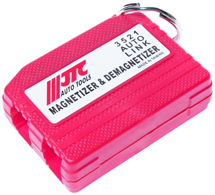 JTC Намагничиватель/размагничиватель инструментов. JTC-3521CA-3505Используется для намагничивания/размагничивания инструмента и отдельных деталей: саморезов, гаек, болтов, шайб. Применение: для намагничивания провести инструментом вдоль нижнего квадратного отверстия со знаком (+). Для размагничивания провести инструментом вдоль верхнего отверстия со знаком (-). Если инструмент не полностью размагнитился, что зависит от качества стали и диаметра, то необходимо повторить процедуру. Количество в оптовой упаковке: 25 шт. и 250 шт. Габаритные размеры: 130/90/20 мм. (Д/Ш/В) Вес: 65 гр.