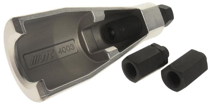 JTC Съемник шаровых опор (VOLVO). JTC-4003CA-3505Специальная конструкция съемника снижает вероятность повреждения резьбы при снятии шаровой опоры.Резьбовая проставка: M14 x 1.5, M14 x 2.0.Размер зева: 30 мм.Применение: автомобили VOLVO.