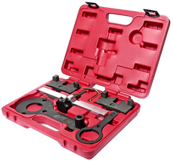 JTC Набор фиксаторов распредвала для проверки и установки фаз ГРМ BMW. JTC-4117CA-3505Применяется для регулировки фаз ГРМ. Предназначен для фиксации распредвала ВМТ. Фиксатор 4117-7 предназначен для удержания шкива распредвала при откручивании центрального болта. Применение: БМВ (BMW) двигатели N63. Упаковка: прочный переносной кейс. Габаритные размеры: 320/300/100 мм. (Д/Ш/В) Вес: 3000 гр.ПОДРОБНАЯ ВИДЕОИНСТРУКЦИЯ
