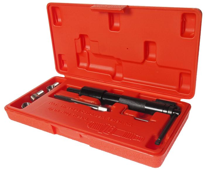 """JTC Набор для восстановления резьбы свечей зажигания, пружинная вставка, 5 шт. JTC-4311CA-3505Набор специально предназначен для реконструкции резьбы свечей зажигания.В комплект входит направляющая втулка, специальные метчики и шестигранный ключ.Характеристики вставок: М12х1.25 (3/4"""") – 5 шт.Размер: М12х1.25.Габаритные размеры: 240/120/40 мм. (Д/Ш/В)Вес: 470 гр."""