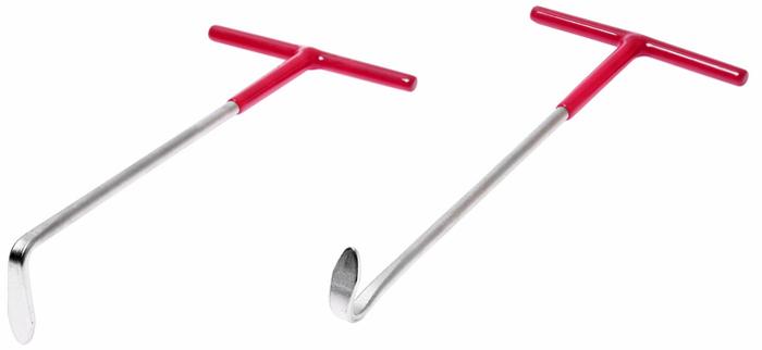 JTC Крюки для снятия резиновых втулок крепления выхлопной трубы, 2 шт. JTC-4660CA-3505Набор крюков для снятия втулок крепления глушителя JTCХарактеристики Специально предназначены для снятия резиновых втулок крепления выхлопной трубы. В наборе 2 крюка, изогнутые под разными углами. Габаритные размеры: 300/150/50 мм. (Д/Ш/В) Вес: 220 г.