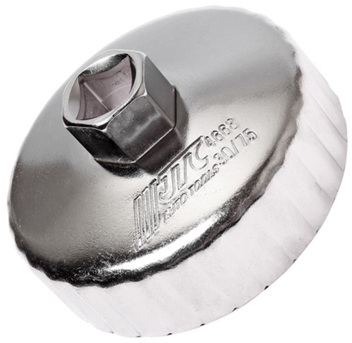 JTC Съемник масляного фильтра. JTC-4668CA-3505Предназначен для снятия масляного фильтра в ходе проведения диагностических работ. Форма - 30-гранная чашка. Размеры: 30 граней/75 мм. Применение: Форд (Ford), Мазда (Mazda). Инструмент: 1/2, 21 мм. Количество в оптовой упаковке: 10 шт. и 100 шт. Габаритные размеры: 145/110/40 мм. (Д/Ш/В) Вес: 196 гр.
