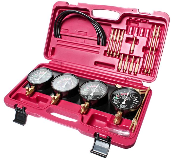 JTC Набор для тестирования топливного насоса карбюратора и его привода, 32 предмета. JTC-4683CA-3505Набор для тестирования топливного насоса карбюратора и его привода 32 предмета JTCХарактеристики Применяется для тестирования топливного насоса карбюратора и его привода для автомобилей с 2-4 карбюраторами. В комплекте: 4 манометра 3-1/2 с неподвижным фиксатором.4 резиновых шланга 8х5х750 мм.4 удлинителя 3.9х52 мм.4 удлинителя 3.9х122 мм.8 конических соединителя 8х40 мм.4 адаптера 10х53 мм. (М6х0.75).4 адаптера 10х60 мм. (М6х1.0).Общее количество предметов: 32. Упаковка: прочный переносной кейс. Габаритные размеры: 440/270/110 мм. (Д/Ш/В) Вес: 3000 г.