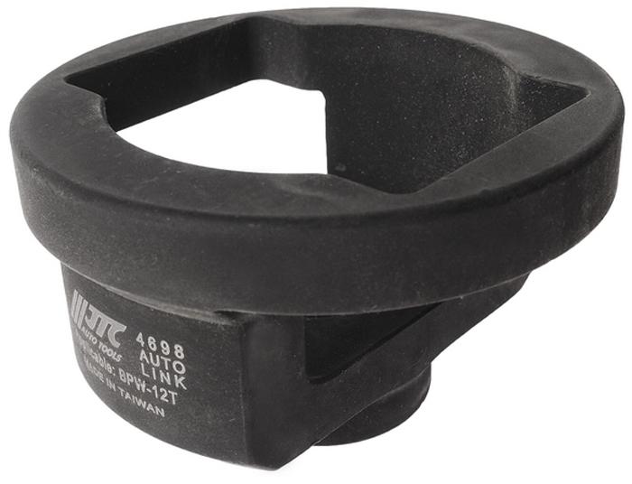 JTC Головка ступичная. JTC-4698RC-100BWCПрименяется для снятия и установки ступичной гайки. Размеры: под ключ 3/4, M52x2/SW80. Применение: BPW-12T. Габаритные размеры: 125/80/25 мм. (Д/Ш/В) Вес: 1290 гр.