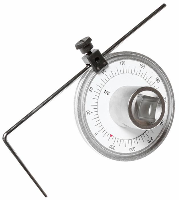 JTC Шкала доворотная. JTC-4740CA-3505Шкала доворотная JTCХарактеристики Шкала на 360°, цена деления 5°, интервал 30°. Предназначена для измерения угла доворота крепежных деталей. Для управления устройством рекомендуется использовать ключ на 3/4. Применяется с инструментом под квадрат 3/4. Длина 100 мм. Габаритные размеры: 300/180/110 мм. (Д/Ш/В) Вес: 728 г.