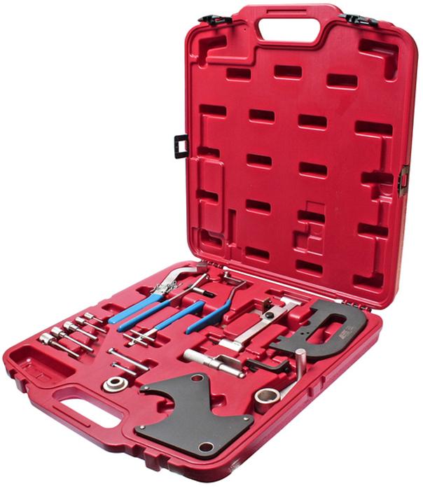 JTC Набор фиксаторов распредвала для установки фаз ГРМ Renault. JTC-4770ACA-3505Набор приспособлений Рено (Renault) состоит из всех необходимых частей, которые используются для различных мероприятий: фиксация маховика и коленчатого вала, а также для фиксации вала ТНВД, снятия шкива (съемник) и т.д. Набор специнструмента для Рено (Renault) можно использовать на моторах, как с бензиновым впрыском, так и дизельным (частично Опель (Opel) Arena/Movanoи Вольво (Volvo) V/S 40). Подходит для бензиновых и дизельных двигателей:Бензиновые: 1.2, 1.4, 1.7 и 1.4, 1.6, 1.8, 2.0 16V, а так же 2.2 8V и 2.5 20V. Дизельные: 1.9 D и TD, 2.1, 2.2 D и TD, а так же 2,5 D и TD, 2,8 D. Упаковка: прочный переносной кейс. Количество в оптовой упаковке: 4 шт. Габаритные размеры: 490/450/70 мм. (Д/Ш/В) Вес: 4842 гр.