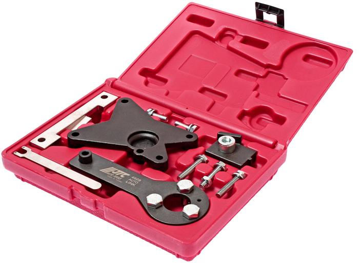 JTC Набор фиксаторов валов и натяжного устройства приводного ремня для Fiat. JTC-492921395598В комплекте:Фиксатор коленчатого вала. Фиксатор распредвала. Фиксатор натяжного устройства для двигателя 1.2. Дополнительные фиксаторы зубчатых колес. Центрирующее приспособление для распредвала двигателя 1.4WT.Применение: Фиат (Fiat) 500, Idea, Linea, Punto, Doblo, Panda, Ev02 и Форд (Ford) KA. Двигатели: 1.2 - 169A4.000. 199A4.000.1.2 - 188A4.000 (EV02 только),1.4 (16V) - 350A1.000. Упаковка: прочный переносной кейс. Габаритные размеры: 215/170/50 мм. (Д/Ш/В) Вес: 1013 гр.