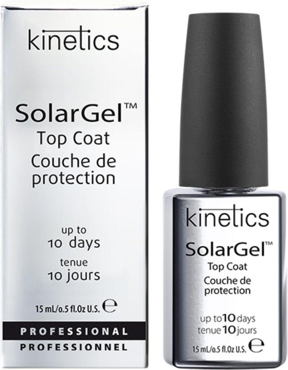 Kinetics Верхнее покрытие SolarGel Top Coat, 15 млSC-FM20104Быстросохнущее верхнее покрытие с гелевым эффектом и супер глянцем. Стойкость - до 10 дней. Не требует специальной просушки в UV/LED лампе. Идеально самовыравнивается, создавая великолепный и стойкий зеркальный блеск. Рекомендуется использовать с профессиональными лаками SolarGel.