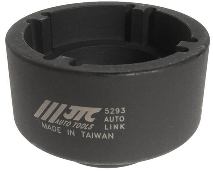 JTC Головка для креплений подшипника вентилятора VOLVO. JTC-5293CA-3505Используется с ключом 3/4.Головка специальной формы с четырмя внутренними выступами предназначена для демонтажа и монтажа гайки крепления подшипника вентилятора.Общая длина: 46 мм.Применение: грузовые автомобили Вольво (VOLVO).