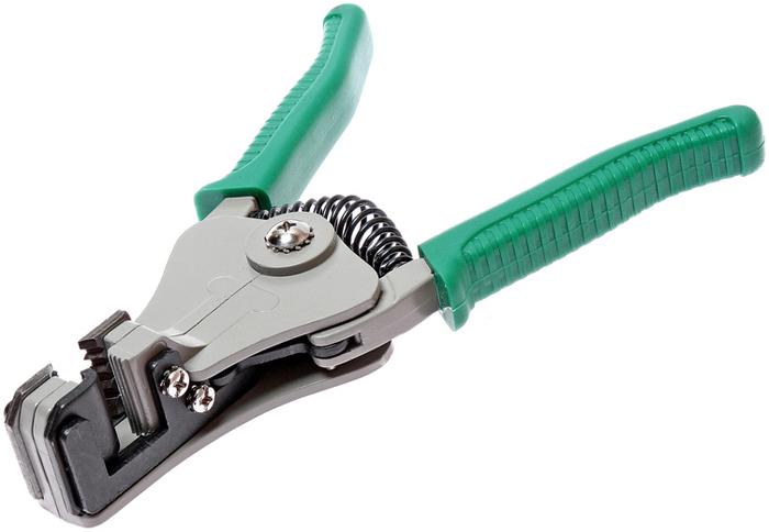 JTC Клещи для снятия изоляции с кабелей. JTC-5618RC-100BWCПрименение: AWG 24, 16, 14, 12; DIN 0.5, 1.2, 1.6, 2.0 мм². Пожизненная гарантия. Габаритные размеры: 240/110/40 мм. (Д/Ш/В) Вес: 383 гр.