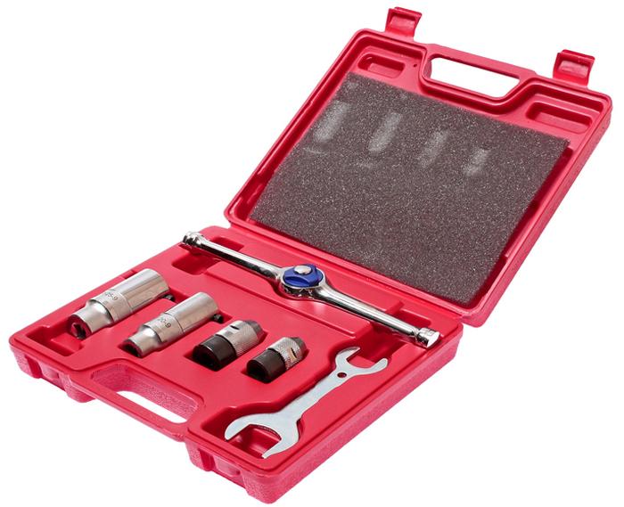 JTC Набор держателей для метчиков и плашек, 6 предметов. JTC-5702CA-3505Держатель метчиков и плашек набор 6 предметов JTCОписаниеВ наборе: Держатель метчиков - 2 шт.: предназначен под ключ с посадочным квадратом 3/8 DR, M3-M8, M6-M12.Держатель плашек - 2 шт.: предназначен под ключ с посадочным квадратом 3/8 DR, Ø20, Ø25.Реверсивная трещотка - 1 шт.Ключ - 1 шт. В наборе 6 предметов.Упаковка: прочный пластиковый кейс.Габаритные размеры: 230/205/55 мм. (Д/Ш/В)Вес: 1318 г.