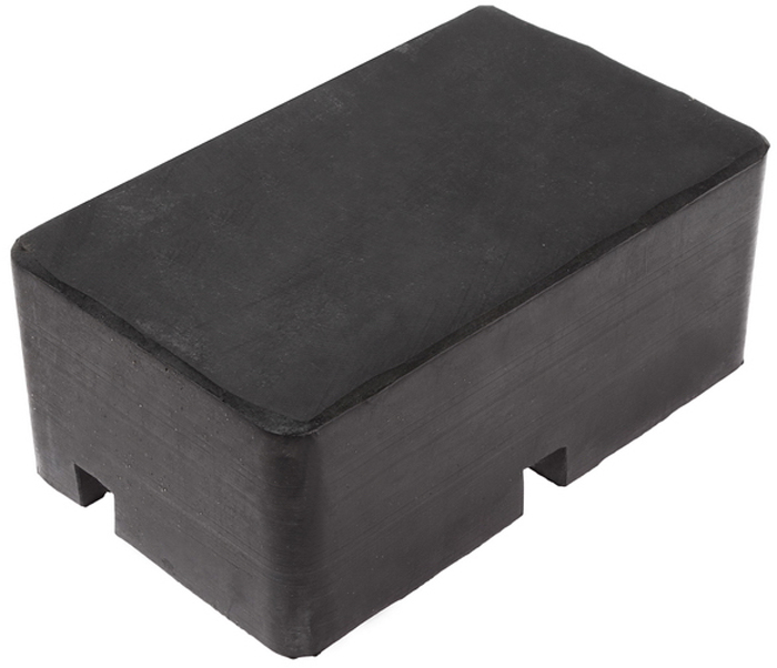 JTC Проставка для подъемника резиновая. JTC-583424000Используется для предотвращения повреждений кузова автомобиля при работах на подъемнике.Материал: резина.Размер: 180х110х75 мм. Количество в оптовой упаковке: 8 шт. Габаритные размеры: 180/110/75 мм. (Д/Ш/В)Вес: 2012 гр.