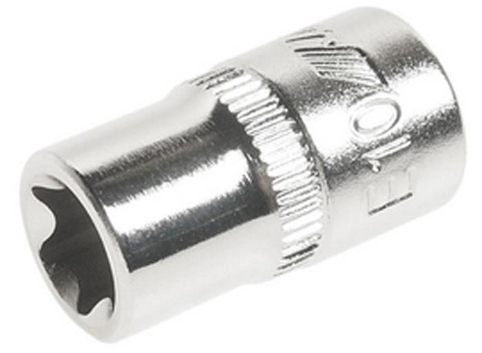 JTC Головка торцевая TORX 1/4 х E10. JTC-22010CA-3505Изготовлен из высококачественной хром-молибденовой стали.Размер: 1/4х Е10.Общая длина: 25 мм.Количество в оптовой упаковке: 10 шт. и 200 шт.