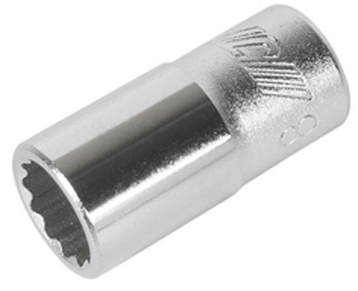 """JTC Головка торцевая 12-гранная 1/4 х 8 мм, длина 25 мм. JTC-22608CA-350512 граней, метрический размер. Изготовлена из закаленной хром-ванадиевой стали. Размер: 1/4""""х8 мм. Длина: 25 мм. Габаритные размеры: 25/13/13 мм. (Д/Ш/В) Вес: 11 гр."""