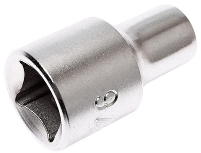 """JTC Головка торцевая 6-гранная 1/2 х 9 мм, длина 38 мм. JTC-43809CA-35056 граней, метрический размер.Изготовлена из закаленной хром-ванадиевой стали.Размер: 1/2""""х9 мм. Длина: 38 мм.Количество в оптовой упаковке: 10 шт. и 200 шт.Габаритные размеры: 38/15/15 мм. (Д/Ш/В)Вес: 50 гр."""