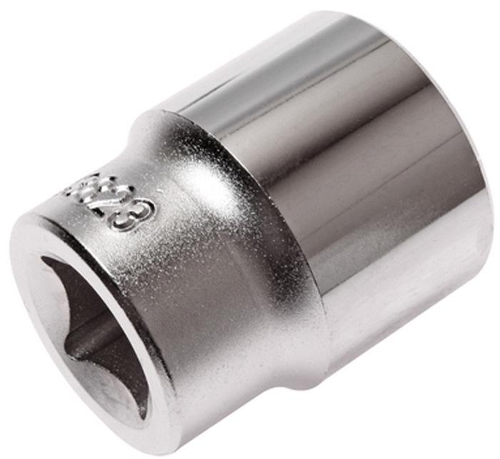 """JTC Головка торцевая 6-гранная 1/2 х 23 мм, длина 38 мм. JTC-43823RC-100BWC6 граней, метрический размер.Изготовлена из закаленной хром-ванадиевой стали.Размер: 1/2""""х23 мм. Длина: 38 мм.Количество в оптовой упаковке: 10 шт. и 100 шт.Габаритные размеры: 38/31/31 мм. (Д/Ш/В)Вес: 98 гр."""