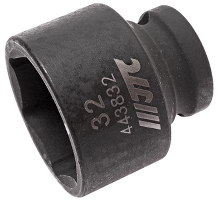 """JTC Головка торцевая ударная 6-гранная 1/2 х 32 мм, длина 42 мм. JTC-443832CA-35056 граней, метрический размер.Изготовлена из высококачественной хром-молибденовой стали.Размер: 1/2""""х32 мм. Общая длина: 42 мм.Количество в оптовой упаковке: 5 шт. и 50 шт.Габаритные размеры: 42/42/42 мм. (Д/Ш/В)Вес: 205 гр."""