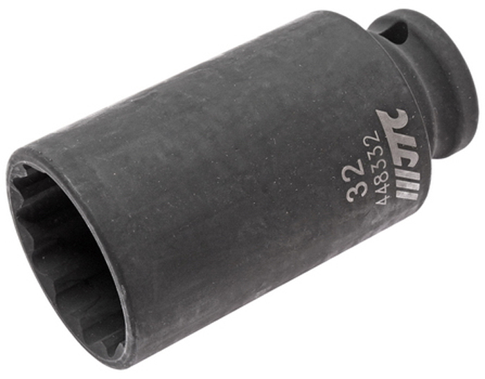 JTC Головка торцевая ударная тонкостенная 12-гранная 1/2 х 32 мм, длина 82 мм. JTC-448332CA-3505Головка торцевая 12-гранная ударная тонкостенная JTCОписание 12 граней, метрический размер. Изготовлена из высококачественной хром-молибденовой стали. Размер: 1/2х32 мм. Общая длина: 82 мм. Габаритные размеры: 82/43/43 мм. (Д/Ш/В) Вес: 356 г.
