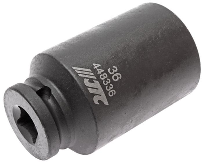 JTC Головка торцевая ударная тонкостенная 12-гранная 1/2 х 36 мм, длина 82 мм. JTC-44833621395598Головка торцевая 12-гранная ударная тонкостенная JTCОписание 12 граней, метрический размер. Изготовлена из высококачественной хром-молибденовой стали. Размер: 1/2х36 мм. Общая длина: 82 мм. Габаритные размеры: 82/49/49 мм. (Д/Ш/В) Вес: 558 г.