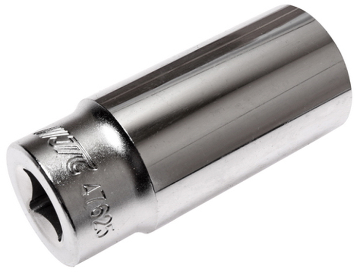 """JTC Головка торцевая глубокая 6-гранная 1/2 х 25 мм, длина 76 мм. JTC-47625RC-100BWC6 граней, метрический размер.Изготовлена из закаленной хром-ванадиевой стали.Размер: 1/2""""х25 мм. Общая длина: 76 мм.Количество в оптовой упаковке: 10 шт. и 80 шт.Габаритные размеры: 76/34/34 мм. (Д/Ш/В)Вес: 234 гр."""