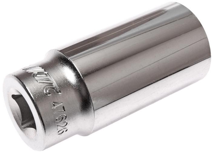 """JTC Головка торцевая глубокая 6-гранная 1/2 х 26 мм, длина 76 мм. JTC-47626JTC-31236 граней, метрический размер.Изготовлена из закаленной хром-ванадиевой стали.Размер: 1/2""""х26 мм. Общая длина: 76 мм.Количество в оптовой упаковке: 10 шт. и 80 шт.Габаритные размеры: 76/35/35 мм. (Д/Ш/В)Вес: 246 гр."""