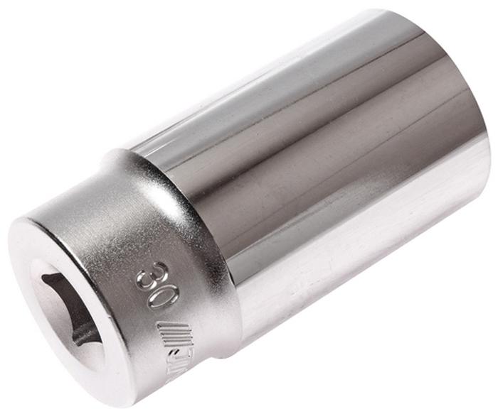 """JTC Головка торцевая глубокая 6-гранная 1/2 х 30 мм, длина 76 мм. JTC-47630RC-100BWC6 граней, метрический размер.Изготовлена из закаленной хром-ванадиевой стали.Размер: 1/2""""х30 мм. Общая длина: 76 мм.Количество в оптовой упаковке: 7 шт. и 56 шт.Габаритные размеры: 76/40/40 мм. (Д/Ш/В)Вес: 362 гр."""