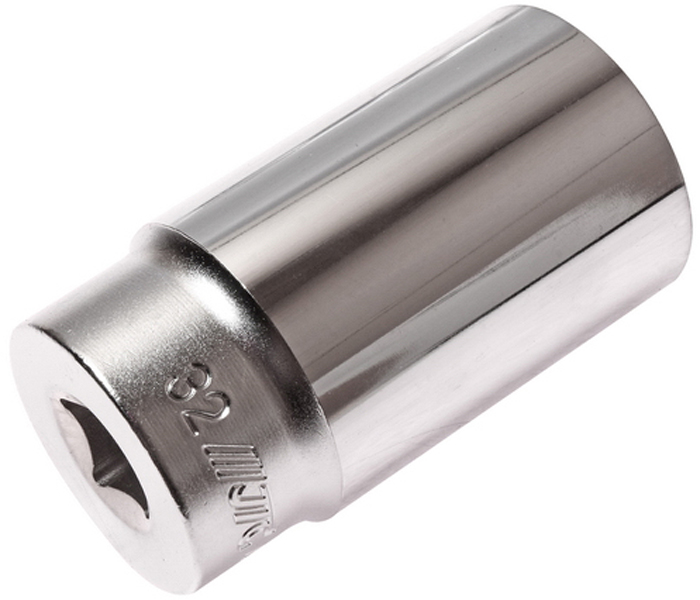 """JTC Головка торцевая глубокая 6-гранная 1/2 х 32 мм, длина 76 мм. JTC-47632CA-35056 граней, метрический размер.Изготовлена из закаленной хром-ванадиевой стали.Размер: 1/2""""х32 мм. Общая длина: 76 мм.Количество в оптовой упаковке: 7 шт. и 56 шт.Габаритные размеры: 76/42/42 мм. (Д/Ш/В)Вес: 395 гр."""