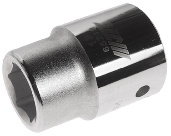 """JTC Головка6-гранная 3/4 х 19 мм, длина 50 мм. JTC-65219RC-100BWC6 граней, метрический размерДиаметр: 19 ммОбщая длина: 50 ммРазмер: 3/4"""" DrИзготовлена из закаленной хром-ванадиевой сталиГабаритные размеры: 50/35/35 мм. (Д/Ш/В)Вес: 215 гр."""