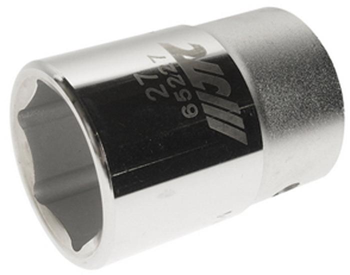"""JTC Головка6-гранная 3/4 х 27 мм, длина 52 мм. JTC-65227CA-35056 граней, метрический размер.Диаметр: 27 мм.Общая длина: 52 мм.Размер: 3/4"""" Dr.Изготовлена из закаленной хром-ванадиевой стали."""