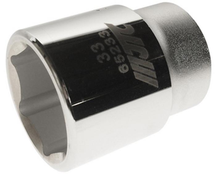 """JTC Головка6-гранная 3/4 х 33 мм, длина 56 мм. JTC-65233CA-35056 граней, метрический размер.Диаметр: 33 мм.Общая длина: 56 мм.Размер: 3/4"""" Dr.Изготовлена из закаленной хром-ванадиевой стали.Габаритные размеры: 56/50/50 мм. (Д/Ш/В)Вес: 330 гр."""