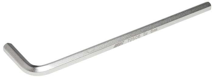 JTC Ключ шестигранный Г-образный удлиненный H6. JTC-72506K100Материал: S2 сталь.Размер: H6.Размер удлиненной части: 135 мм.Размер короткой части: 32 мм.