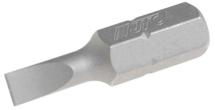 JTC Вставка 1/4DR шлиц 0.8х4х25 мм. JTC-1122504RC-100BWCРазмер: 0.8 х 4 х 25 мм.Квадрат: 1/4 DR.Материал: S2 сталь.Тип: SL.