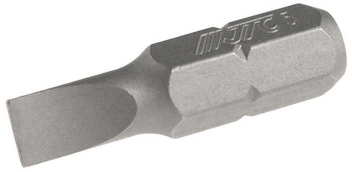 JTC Вставка 1/4DR шлиц 0.8х5х25 мм. JTC-1122505K100Размер: 0.8 х 5 х 25 мм.Квадрат: 1/4 DR.Материал: S2 сталь.Тип: SL.