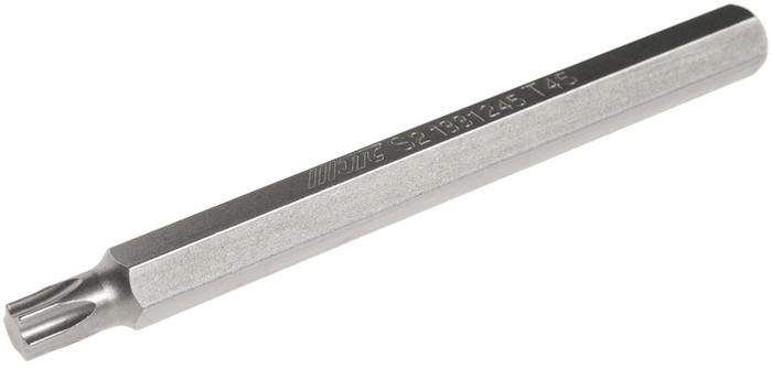 JTC Вставка 10 мм TORX экстрадлинная Т45х120 мм. JTC-1331245K100Размер: Т45 х 120 мм., экстрадлинная TORX.Общая длина: 120 мм.Длина насадки: 10 мм.Материал: S2 сталь.