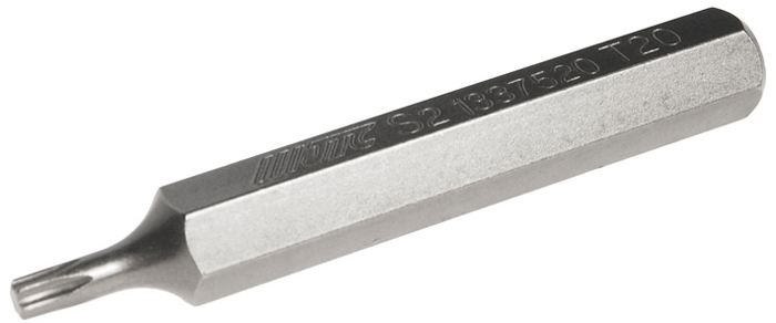 JTC Вставка 10 мм TORX удлиненная Т20х75 мм. JTC-1337520RC-100BWCРазмер: Т20 х 75 мм., удлиненная TORX.Длина насадки: 10 мм.Материал: S2 сталь.