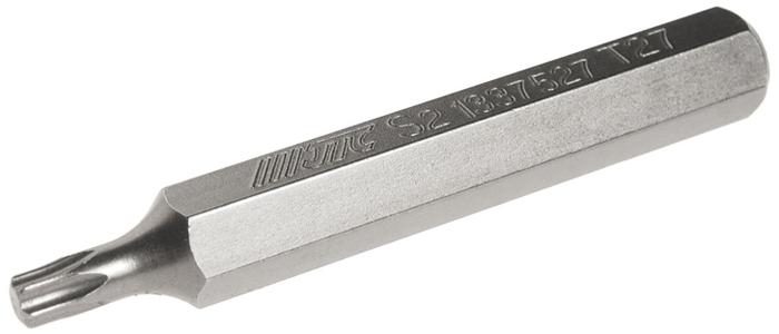 JTC Вставка 10 мм TORX удлиненная Т27х75 мм. JTC-1337527CA-3505Размер: Т27 х 75 мм., удлиненная TORX.Длина насадки: 10 мм.Материал: S2 сталь.