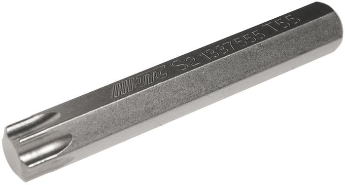 Бита JTC Torx, удлиненная, Т55х75 мм, 10 мм. JTC-1337555VCA-00Бита JTC Torx, удлиненная выполнена из стали.Размер: Т55 х 75 мм.Длина биты: 10 мм.