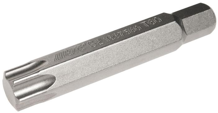 JTC Вставка 10 мм TORX удлиненная Т60х75 мм. JTC-1337560CA-3505Размер: Т60 х 75 мм., удлиненная TORX.Длина насадки: 10 мм.Материал: S2 сталь.