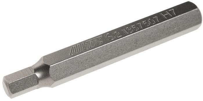 JTC Вставка 10 мм 6-гранная удлиненная 7х75 мм. JTC-1357507CA-3505Размер: 7 х 75 мм.Длина насадки: 10 мм 6-гранная.Материал: S2 сталь.