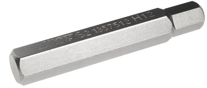 JTC Вставка 10 мм 6-гранная удлиненная 12х75 мм. JTC-1357512WT-CD37Размер: 12 х 75 мм.Длина насадки: 10 мм 6-гранная.Материал: S2 сталь.