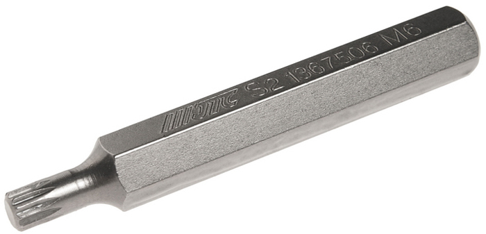 JTC Вставка 10 мм SL удлиненная М6х75 мм. JTC-1367506RC-100BWCРазмер: М6.Общая длина: 75 мм.Длина насадки: 10 мм удлиненная SL.Материал: S2 сталь.