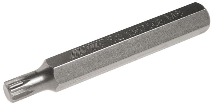 JTC Вставка 10 мм SL удлиненная М8х75 мм. JTC-1367508RC-100BWCРазмер: М8.Общая длина: 75 мм.Длина насадки: 10 мм удлиненная SL.Материал: S2 сталь.
