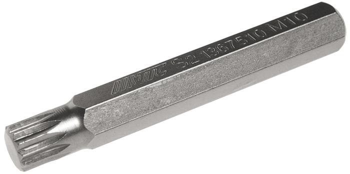 Бита JTC Spline, удлиненная, М10х75 мм, 10 мм. JTC-1367510CA-3505Бита JTC Spline, удлиненная выполнена из стали.Размер: М10.Общая длина: 75 мм.Длина биты: 10 мм.