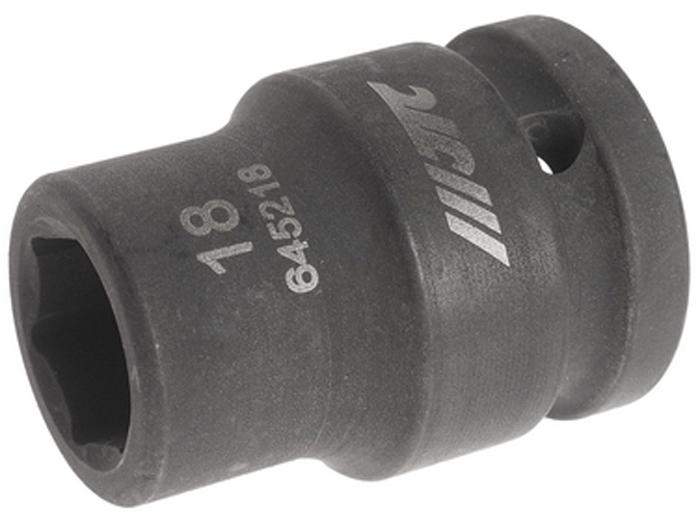 """JTC Головка торцевая ударная 6-гранная 3/4 х 18 мм, длина 52 мм. JTC-645218CA-35056 граней, метрический размер.Диаметр: 18 мм., ширина - 29.5 мм.Общая длина: 52 мм.Размер: 3/4"""" Dr.Изготовлена из высококачественной хром-молибденовой стали.Габаритные размеры: 50/30/30 мм. (Д/Ш/В)Вес: 240 гр."""