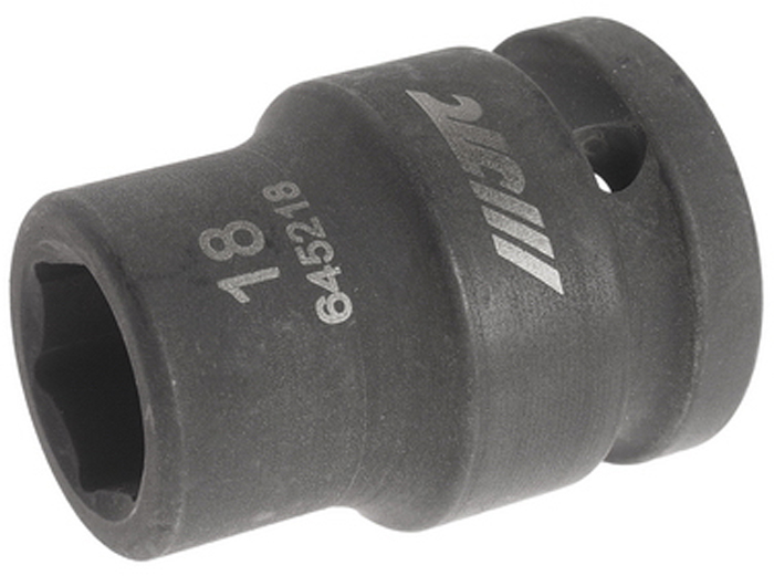 JTC Головка торцевая ударная 6-гранная 3/4 х 18 мм, длина 52 мм. JTC-645218 головка 6 гранная 30 мм 3 4 force 56530