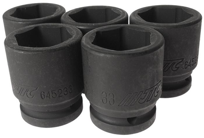 """JTC Головка торцевая ударная 6-гранная 3/4 х 33 мм, длина 56 мм. JTC-645233CA-35056 граней, метрический размер.Диаметр: 33 мм., ширина - 48 мм.Общая длина: 56 мм.Размер: 3/4"""" Dr.Изготовлена из высококачественной хром-молибденовой стали.Габаритные размеры: 60/48/48 мм. (Д/Ш/В)Вес: 500 гр."""
