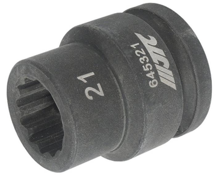 """JTC Головка торцевая ударная 12-гранная 3/4 х 21 мм, длина 51 мм. JTC-645321CA-3505Изготовлена из высококачественной хром-молибденовой стали.12 граней, метрический размер. Размер: 3/4""""х21 мм. Длина: 51 мм.Габаритные размеры: 51/50/44 мм. (Д/Ш/В)Вес: 350 гр."""